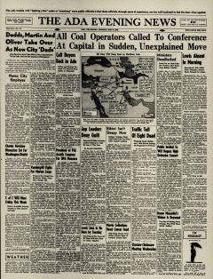 Ada Evening News, May 06, 1946, Page 1