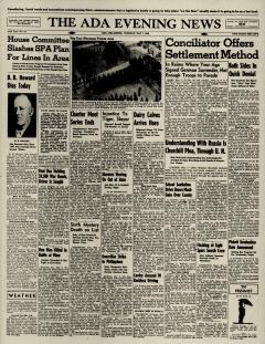 Ada Evening News, May 07, 1946, Page 1