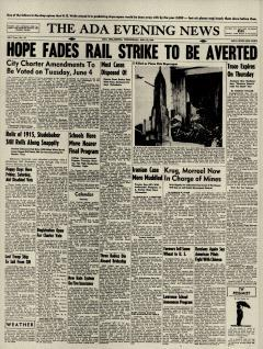 Ada Evening News, May 22, 1946, Page 1