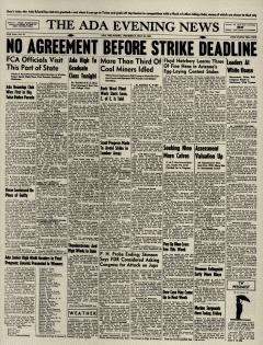 Ada Evening News, May 23, 1946, Page 1