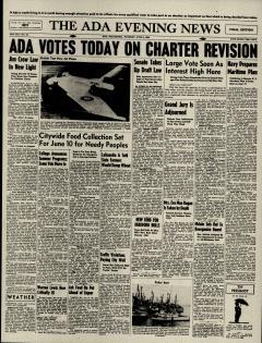 Ada Evening News, June 04, 1946, Page 1