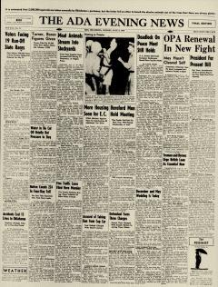 Ada Evening News, July 08, 1946, Page 1