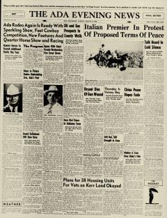 Ada Evening News, August 11, 1946, Page 1