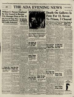 Ada Evening News, October 01, 1946, Page 1