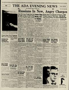 Ada Evening News, October 04, 1946, Page 1