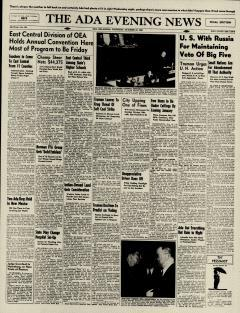 Ada Evening News, October 24, 1946, Page 1
