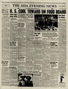Ada Evening News, October 27, 1946, Page 1