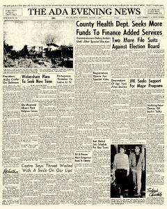 Ada Evening News, January 03, 1962, Page 1