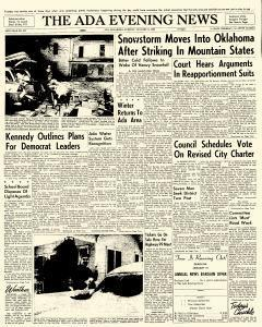 Ada Evening News, January 09, 1962, Page 1