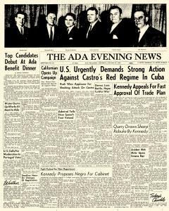 Ada Evening News, January 25, 1962, Page 1