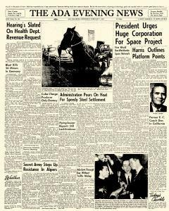 Ada Evening News, February 07, 1962, Page 1