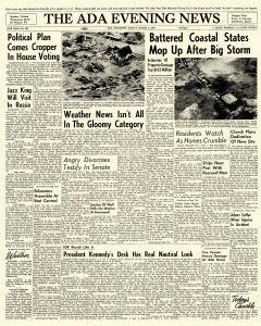 Ada Evening News, March 09, 1962, Page 1