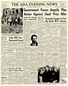 Ada Evening News, April 12, 1962, Page 1