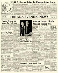 Ada Evening News, May 14, 1962, Page 1