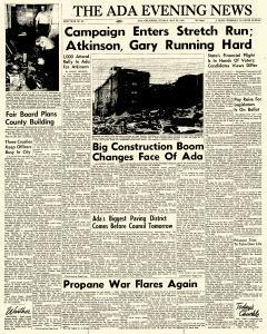 Ada Evening News, May 20, 1962, Page 1