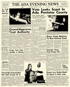 Ada Evening News, May 22, 1962, Page 1