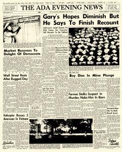 Ada Evening News, May 30, 1962, Page 1