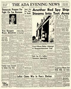 Ada Evening News, June 12, 1962, Page 1