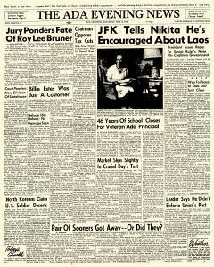 Ada Evening News, June 13, 1962, Page 1