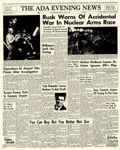 Ada Evening News, June 17, 1962, Page 1