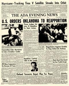 Ada Evening News, June 19, 1962, Page 1