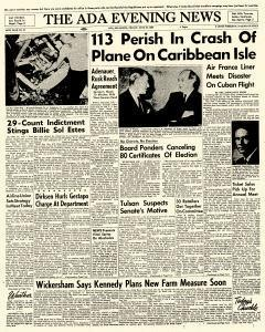 Ada Evening News, June 22, 1962, Page 1