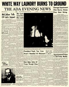 Ada Evening News, July 01, 1962, Page 1
