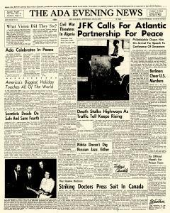 Ada Evening News, July 04, 1962, Page 1