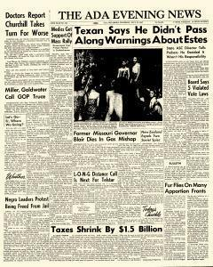 Ada Evening News, July 12, 1962, Page 1