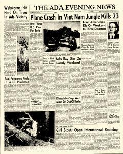 Ada Evening News, July 16, 1962, Page 1