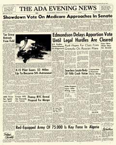 Ada Evening News, July 17, 1962, Page 1