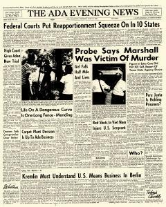 Ada Evening News, July 19, 1962, Page 1