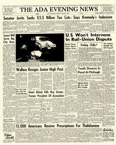Ada Evening News, August 07, 1962, Page 1