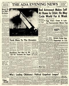 Ada Evening News, August 12, 1962, Page 1