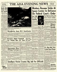 Ada Evening News, August 20, 1962, Page 1