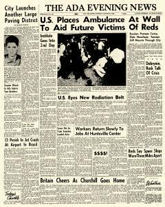 Ada Evening News, August 21, 1962, Page 1