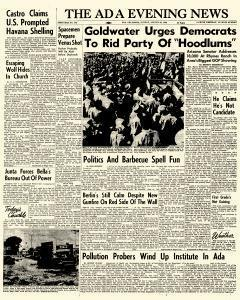 Ada Evening News, August 26, 1962, Page 1