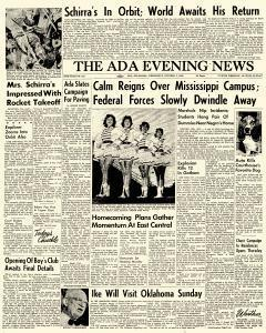 Ada Evening News, October 03, 1962, Page 1