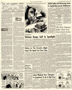 Ada Evening News, October 30, 1962, Page 4