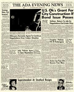 Ada Evening News, November 30, 1962, Page 1
