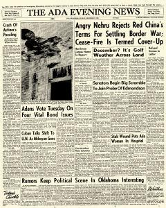 Ada Evening News, December 02, 1962, Page 1