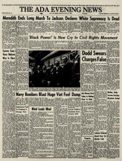 Ada Evening News, June 27, 1966, Page 1