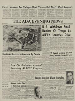 Ada Evening News, May 13, 1970, Page 1