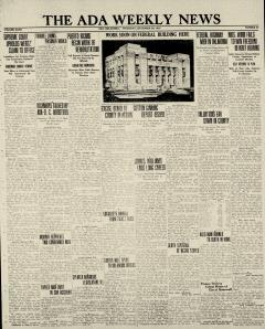 Ada Weekly News, September 29, 1932, Page 1
