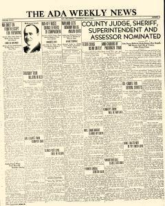 Ada Weekly News, July 06, 1934, Page 1