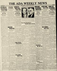 Ada Weekly News, August 30, 1934, Page 1
