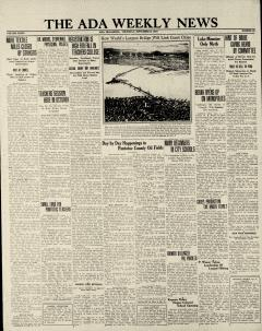 Ada Weekly News, September 06, 1934, Page 1