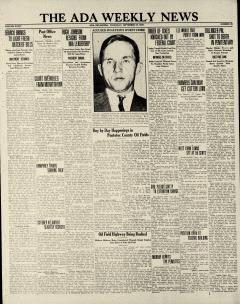 Ada Weekly News, September 27, 1934, Page 1