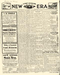Fort Gibson New Era, December 14, 1911, Page 1