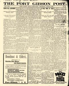 Fort Gibson Post, June 23, 1898, Page 1